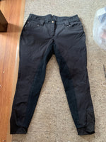 HKM black breeches size 12