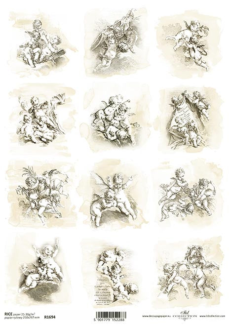 Decoupage Rice Paper - A4 - 1 piece  - 1694