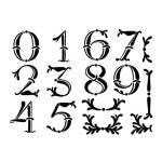 Artisan Enhancements - Stencil - Large Vintage Numbers