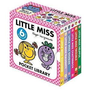 Little Miss Pocket Library (Board Book) - Little Miss Sunshine, Little Miss Naughty, Little Miss Giggles, Little Miss Trouble, Little Miss Helpful, Little Miss Chatterbox)