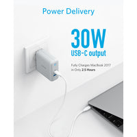 Anker USB C Charger, PowerPort Speed+Duo Wall Charger with 30W Power Delivery Port for iPhone,iPad Pro,MacBook,Galaxy and more