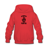 US NAVY Semper Fortis Youth Hoodie - red