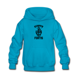 US NAVY Semper Fortis Youth Hoodie - turquoise