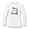 Whatever is True, Lovely, Pure Women's Premium Long Sleeve T-Shirt - white