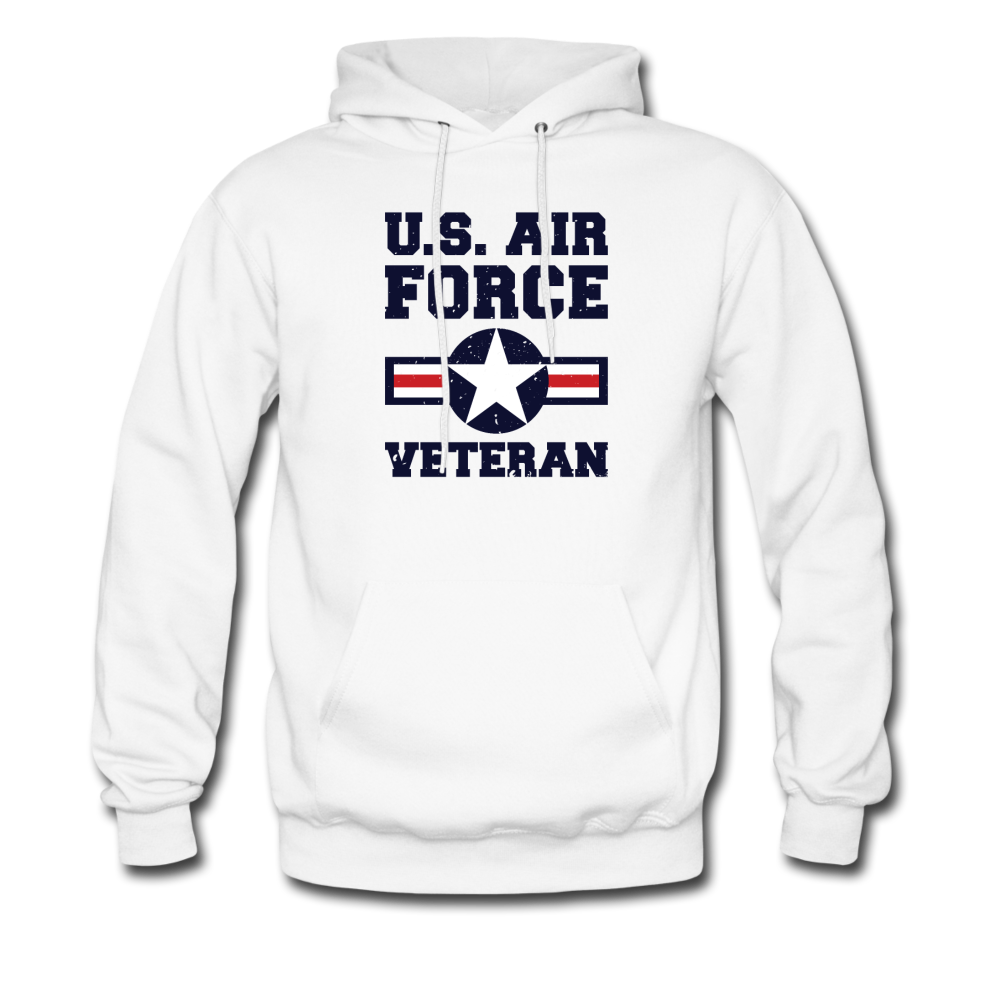 US Air Force Veteran Men's/Unisex Hoodie - white