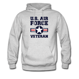 US Air Force Veteran Men's/Unisex Hoodie - ash