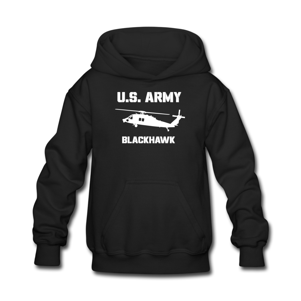 US Army Blackhawk Kids' Hoodie - black