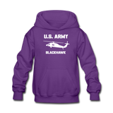 US Army Blackhawk Kids' Hoodie - purple