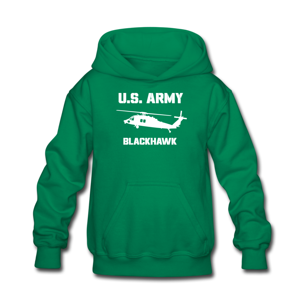 US Army Blackhawk Kids' Hoodie - kelly green
