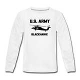 US Army Blackhawk Kids' Premium Long Sleeve T-Shirt - white