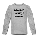US Army Blackhawk Kids' Premium Long Sleeve T-Shirt - heather gray