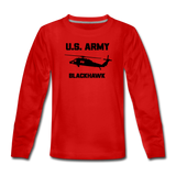 US Army Blackhawk Kids' Premium Long Sleeve T-Shirt - red