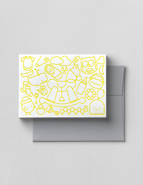 NEW BABY LETTERPRESS CARD