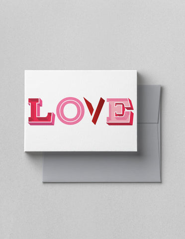 LOVE LETTERS CARD