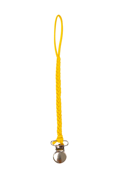 LEATHER BRAID DUMMY CLIP (Yellow)