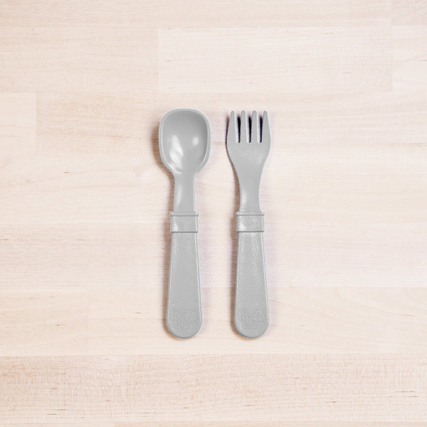 RE-PLAY FORK & SPOON SET (Grey)