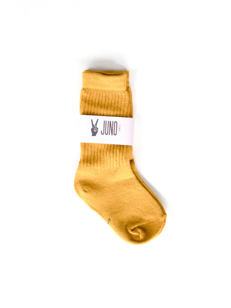 RIBBED SOCKS (Mustard)