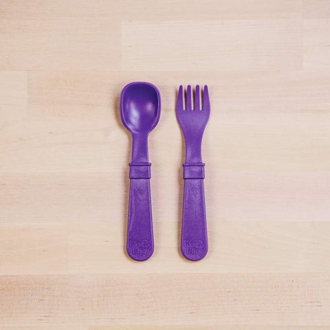 RE-PLAY FORK & SPOON SET (Amethyst)