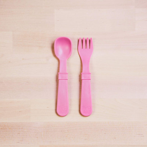 RE-PLAY FORK & SPOON SET (Baby Pink)