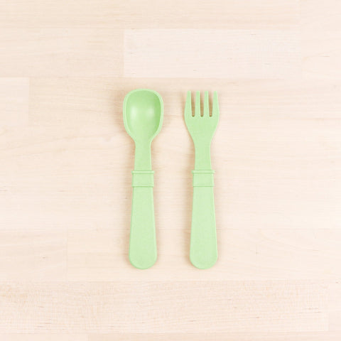 RE-PLAY FORK & SPOON SET (Leaf)