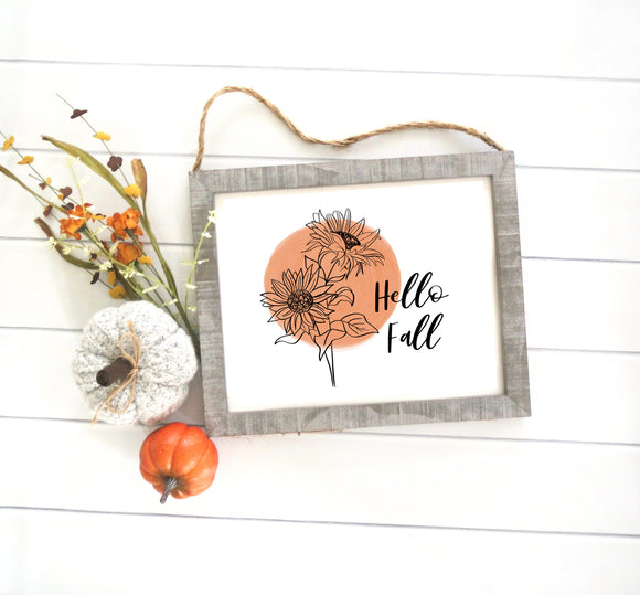 Hello Fall - Sign Series