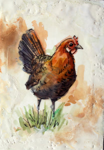 23/30 Encaustic Chicken
