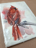 "24/30 Encaustic ""Red Friend"""