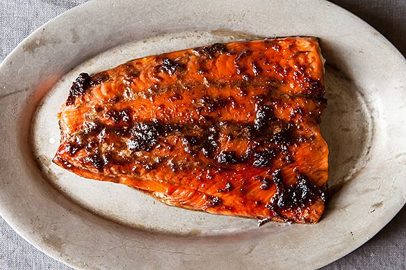Glazed Strawberry Jam and Jalapeño Salmon