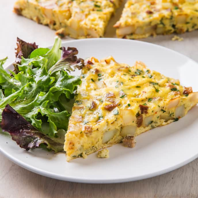 Chorizo and Greens Frittata
