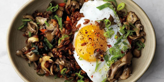 Fried Farro with Runny Egg