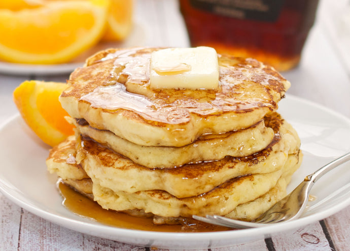 Ricotta Cheese Pancakes with Orange Butter Sauce