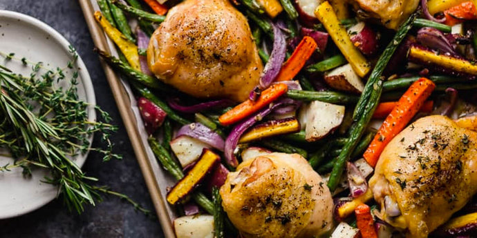 Sheet Pan Chicken and Carrots