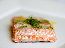 Grilled Coho Salmon in Butter, Lemon and Dill