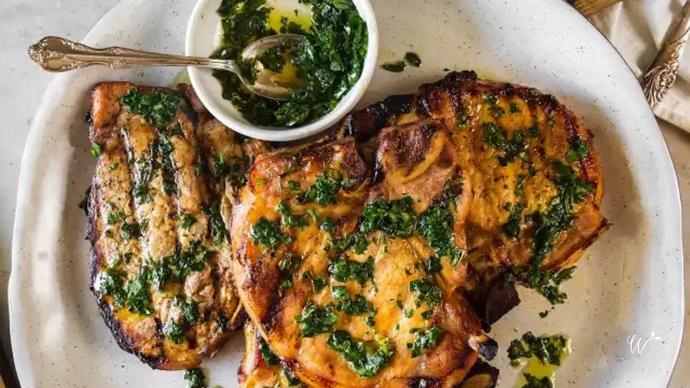 Roasted Pork Chops with Chimichurri
