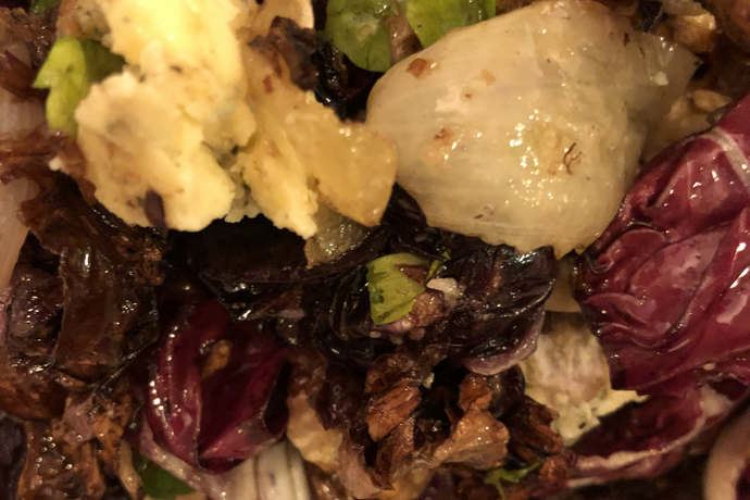 Roasted Radicchio and Roquefort Salad