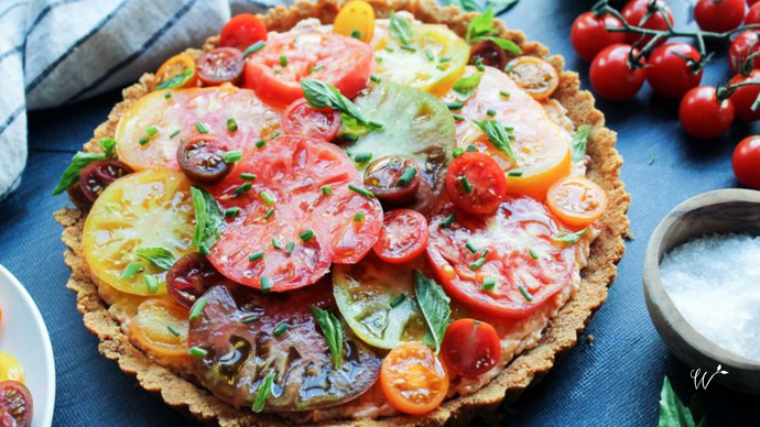 Sharp White Cheddar and Heirloom Tomato Pie