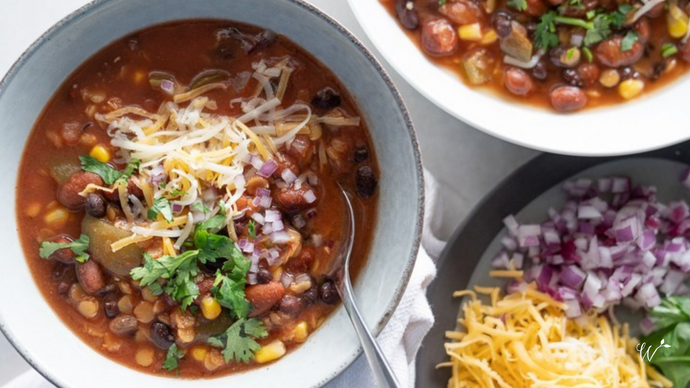 Slow-Cooker Lentil Tortilla Soup