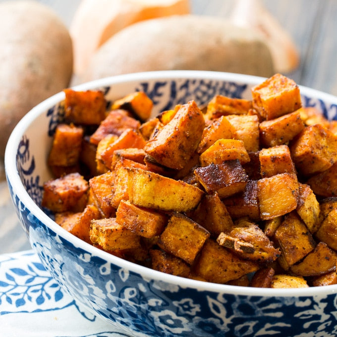 Spicy Roasted Sweet Potato