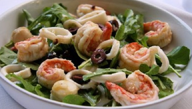 Coconut Rice Salad with Shrimp