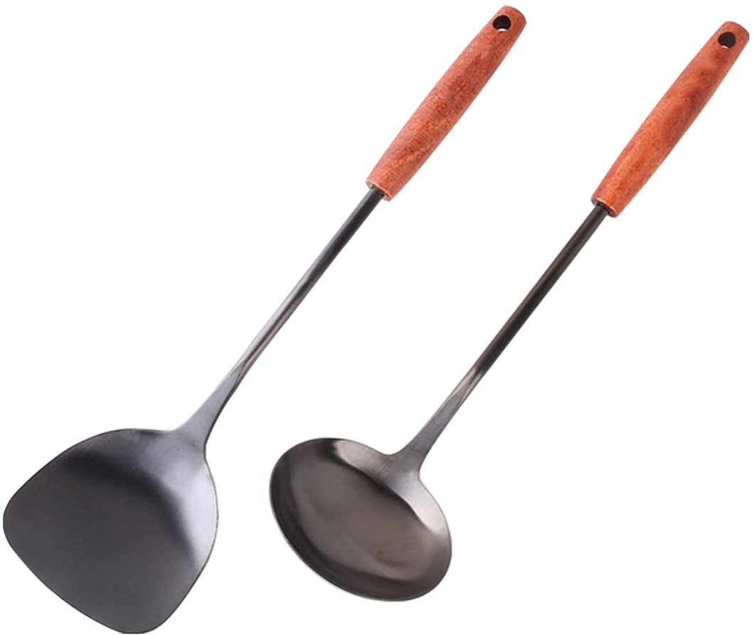 Wok Scoop and Chinese Ladle Set