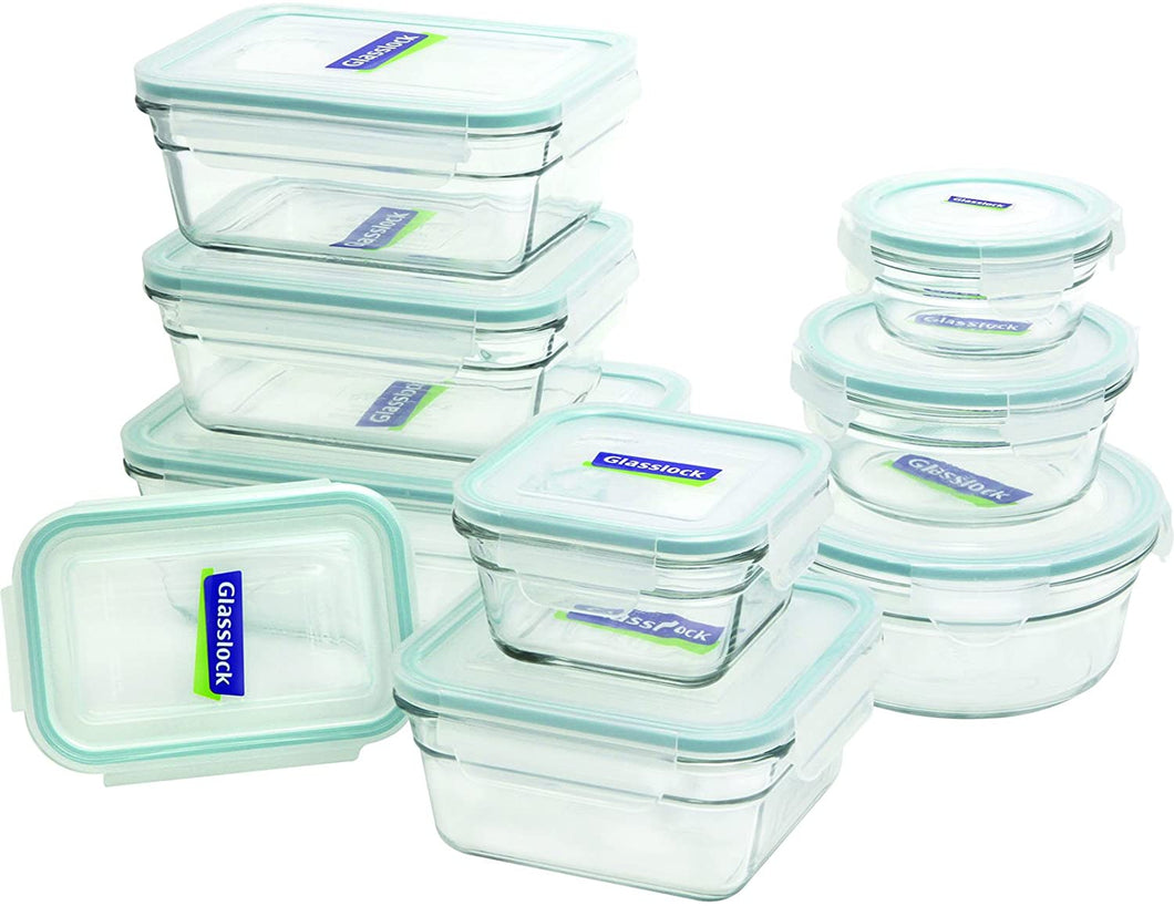 18-piece Glasslock oven-safe, leek-proof and airtight containers