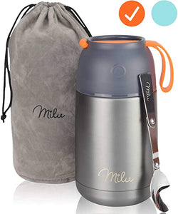 22-ounes Milu Thermos Jar with Folding Spoon