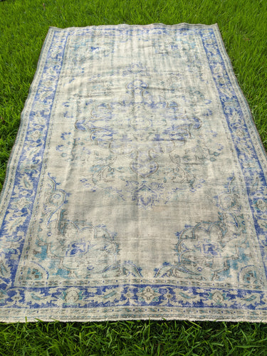 Vintage Turkish Oushak Rug 6.7'x10.5'