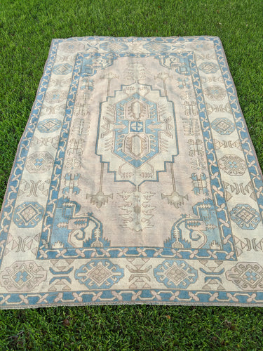 Vintage Turkish Milas Rug 7.1'x10.7'