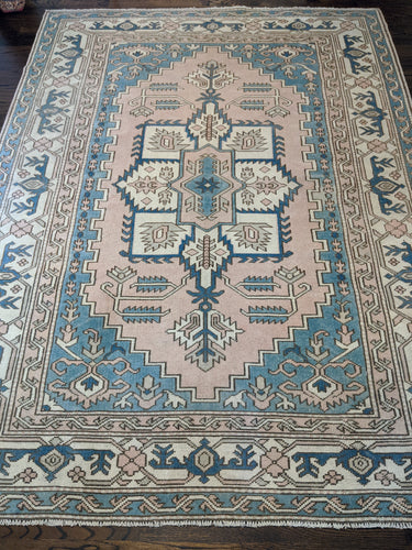 Vintage Turkish Milas Rug 6'x8'