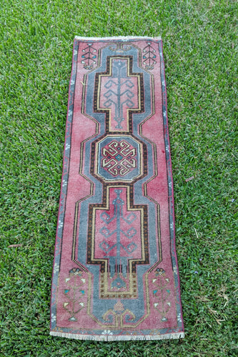 Vintage Turkish  Rug 1.5'x 4.3'
