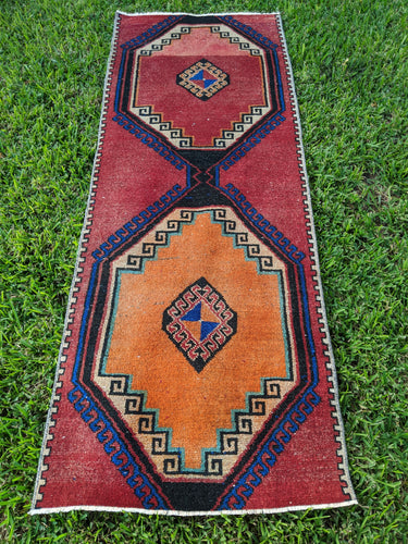 Vintage Turkish Runner 3'x7'