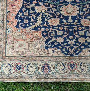 Vintage Turkish Oushak Rug 6.5'x9.8'