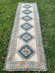 Vintage Turkish Runner 2.7'x8.5'