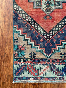 Small Vintage Turkish Runner 2x5.6